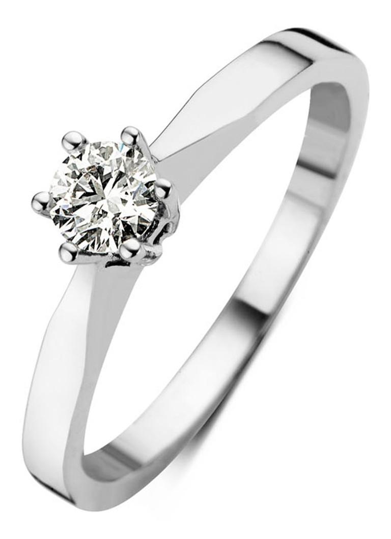 Diamond Point Witgouden solitair groeibriljant ring, 0.25 ct.