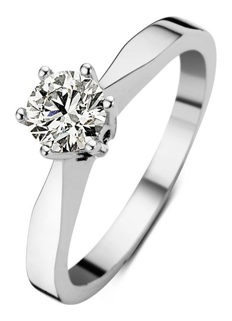 Diamond Point Witgouden solitair groeibriljant ring, 0.33 ct.
