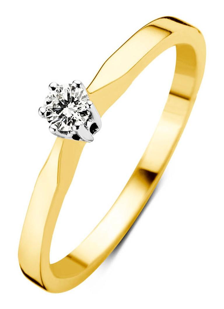 - Diamond Point Geelgouden solitair groeibriljant ring, 0.06 ct.