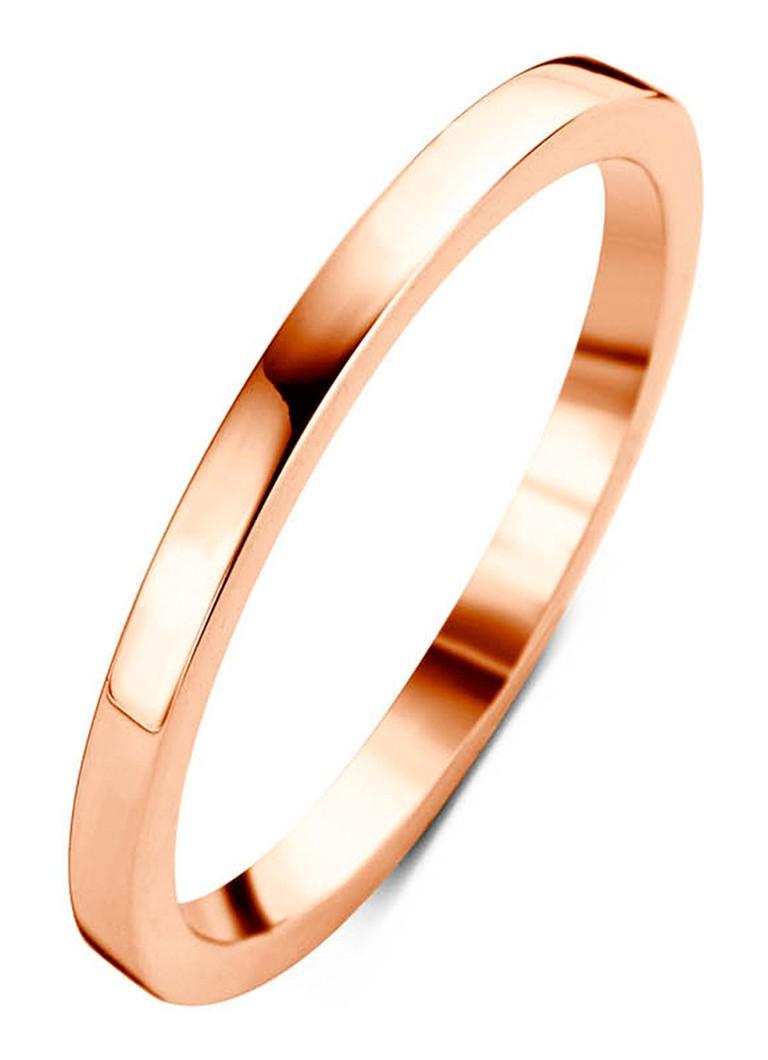 Diamond Point Ensemble roségouden ring