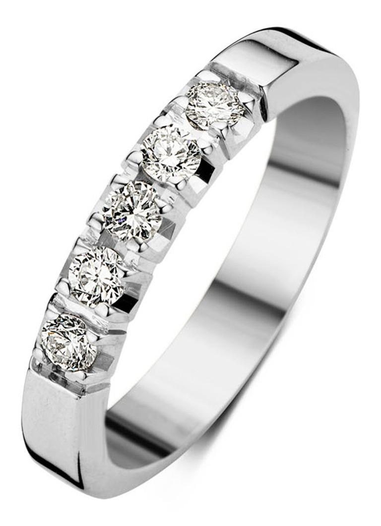 Sieraden Diamond Point Witgouden alliance groeibriljant ring  0 25 ct  Witgoud