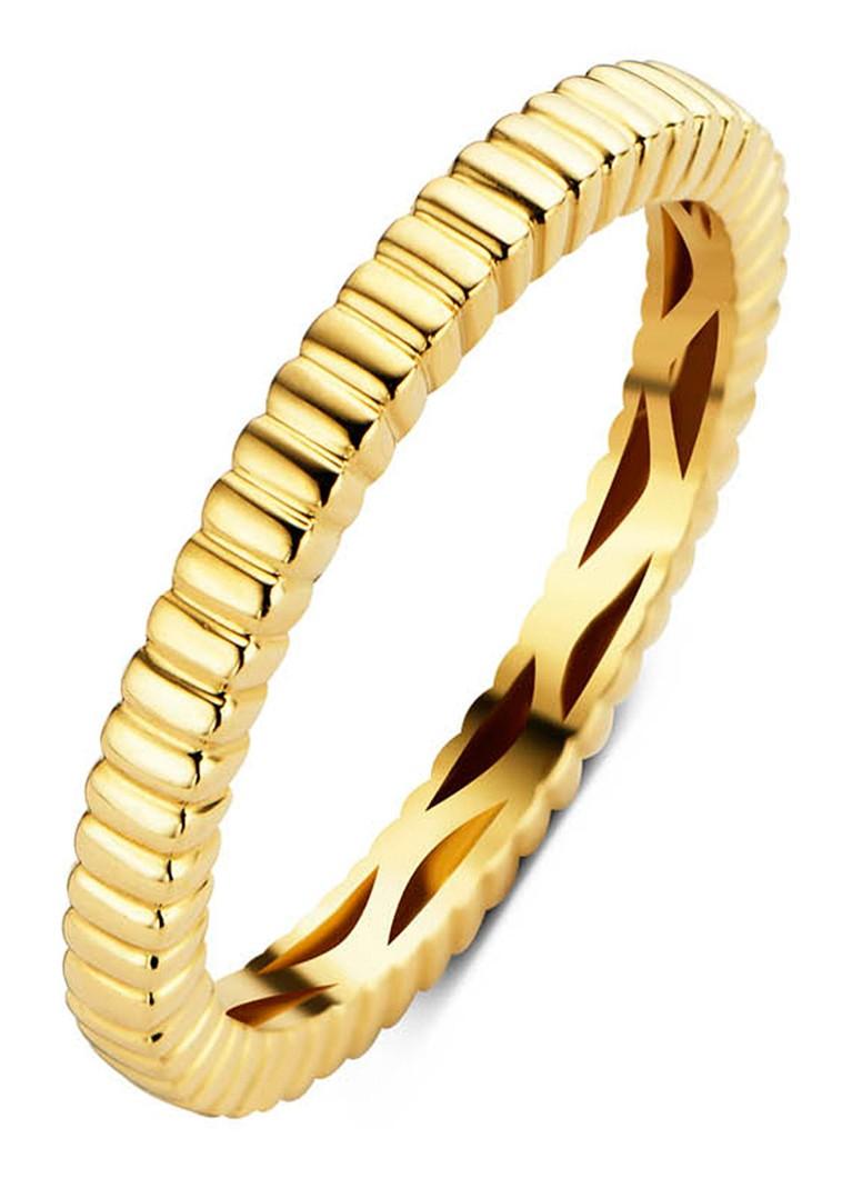 Diamond Point Ensemble geelgouden ring