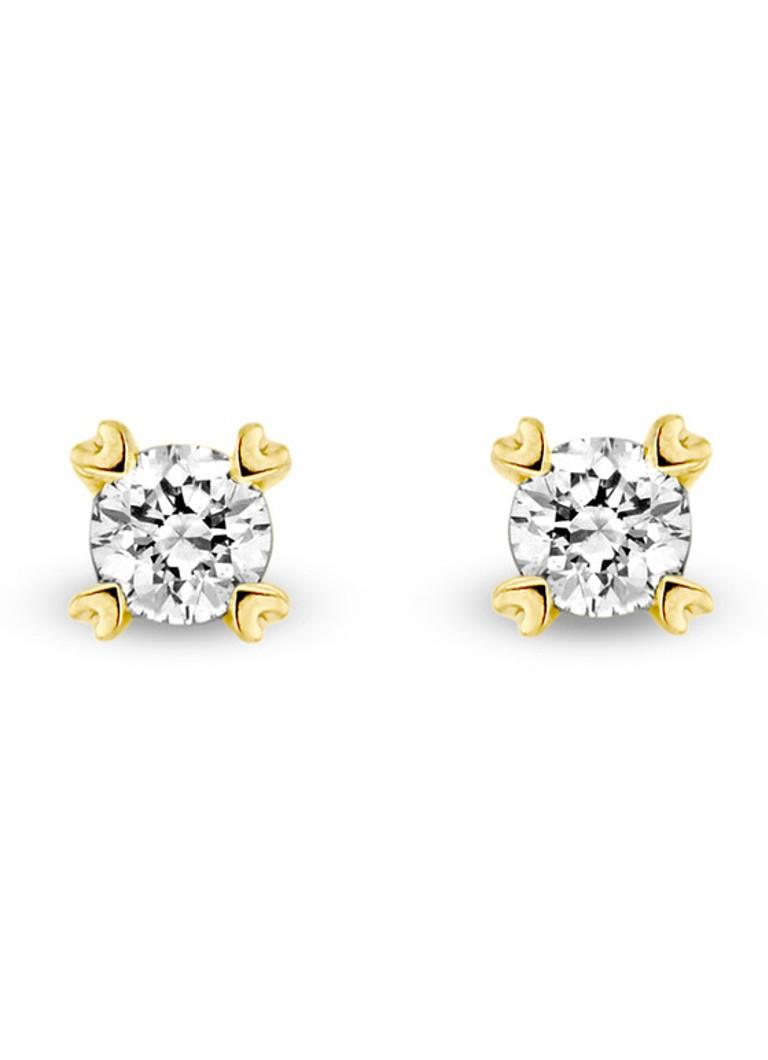 Image of Diamond Point Geelgouden oorsieraden 0.22 ct diamant Hearts & Arrows