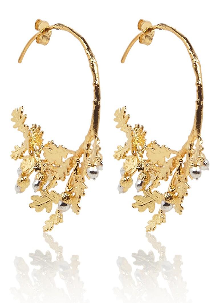 Image of Alex Monroe Oakleaf & Branch oorstekers met gouden plating FSE4-MIX