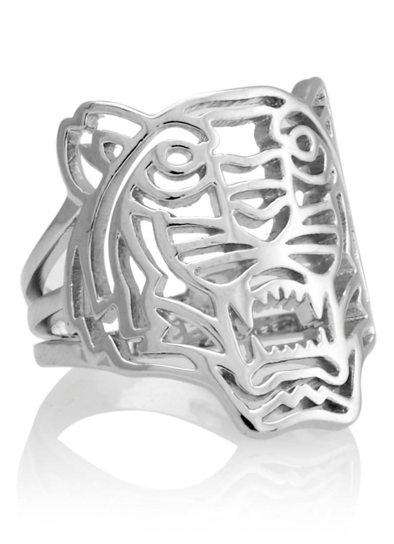 Kenzo Zilveren tijger ring