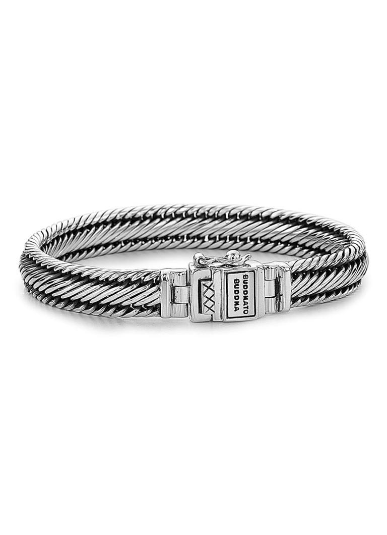 Buddha to Buddha Brede armband Edwin van zilver