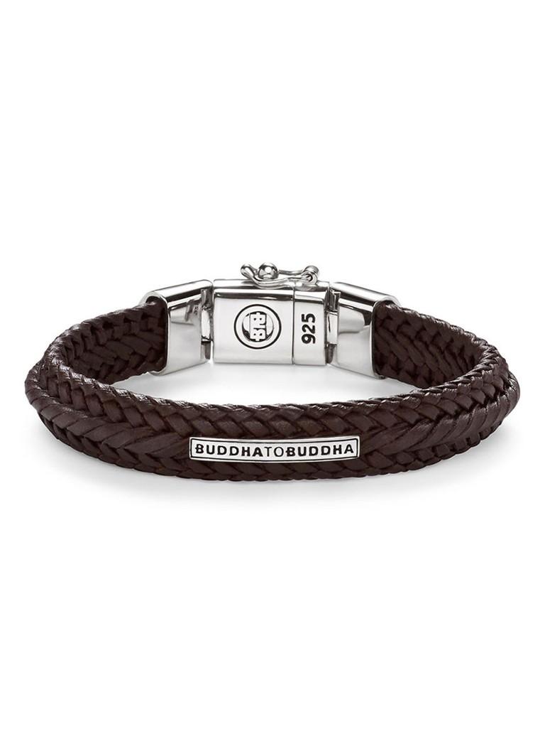 Buddha to Buddha Armband Nurul van gevlochten leer