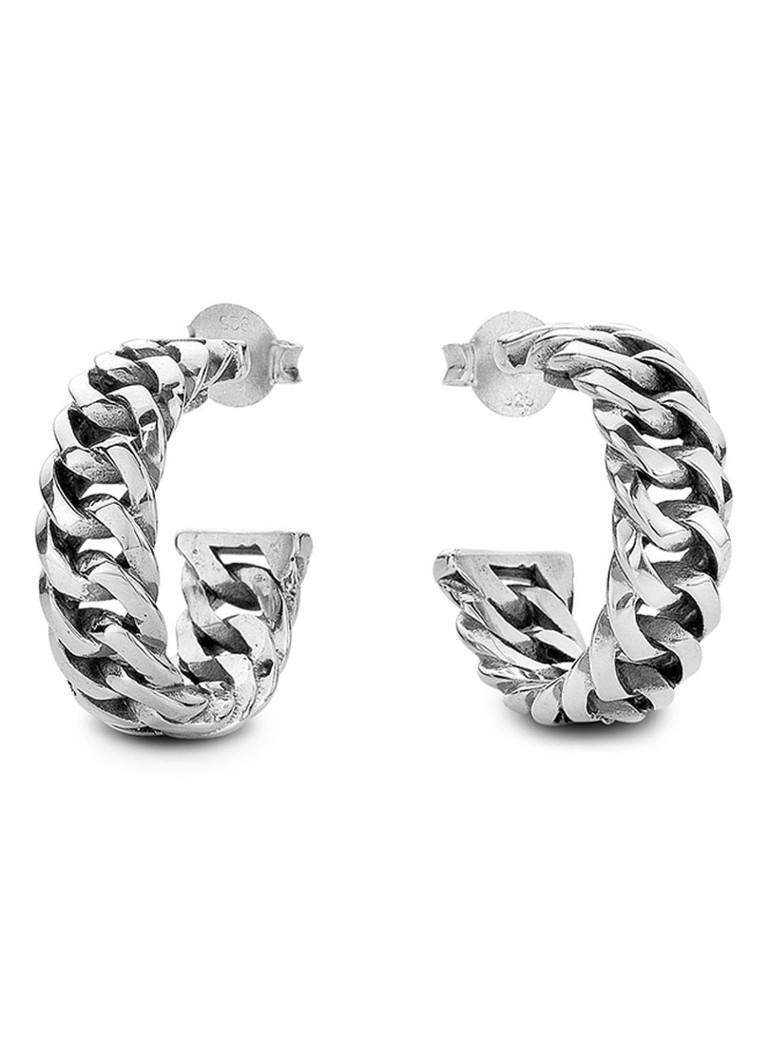Buddha to Buddha Creolen Chain van zilver