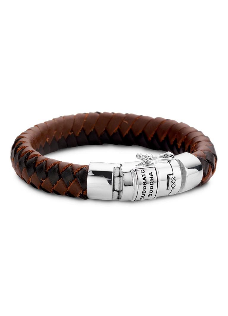 Buddha to Buddha Armband Ben Mixed van zilver en leer