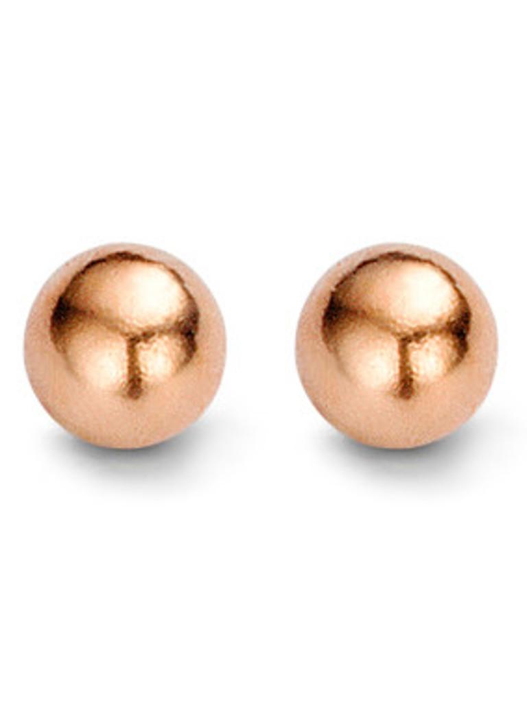 Casa Jewelry Oorstekers Miniballs roségoud