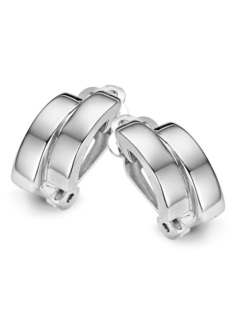 Casa Jewelry Oorclips Shuffle zilverkleurig