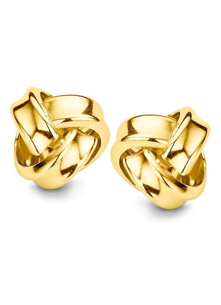 Casa Jewelry Oorstekers Warboel goudkleurig