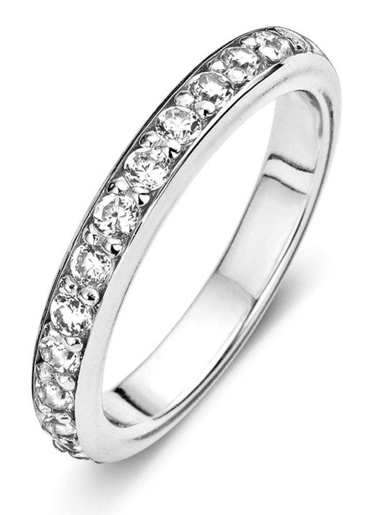 Casa Jewelry Ring Ally zilverkleurig met steentjes