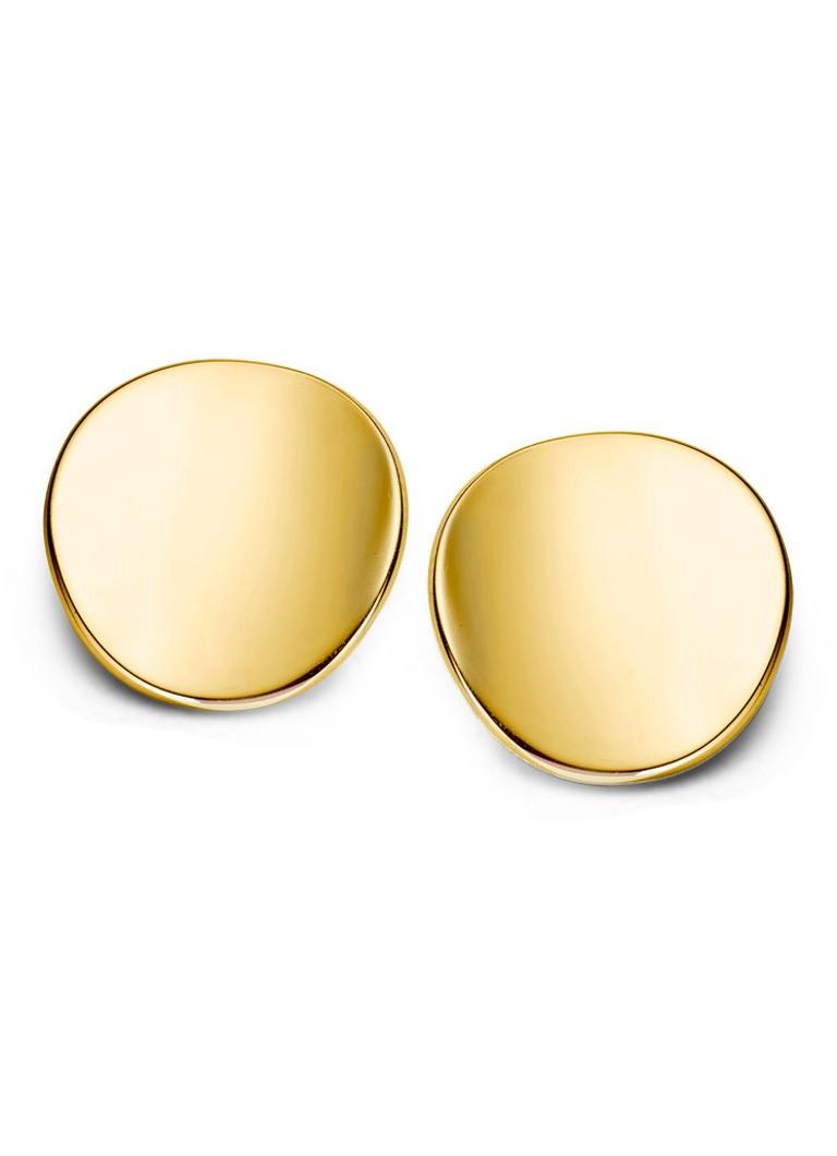 Casa Jewelry Oorknoppen Rondje Hol van zilver goud verguld