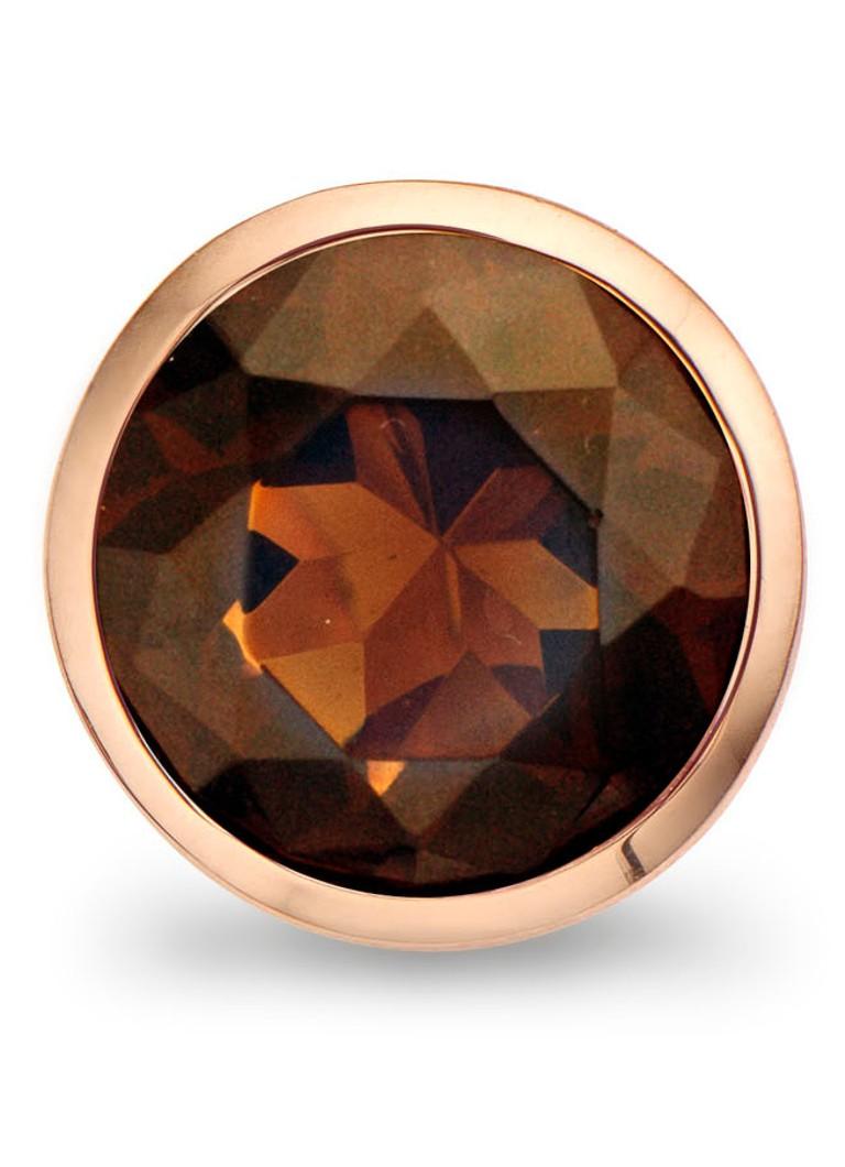 Casa Jewelry Clip Brown Facet van zilver rosé verguld