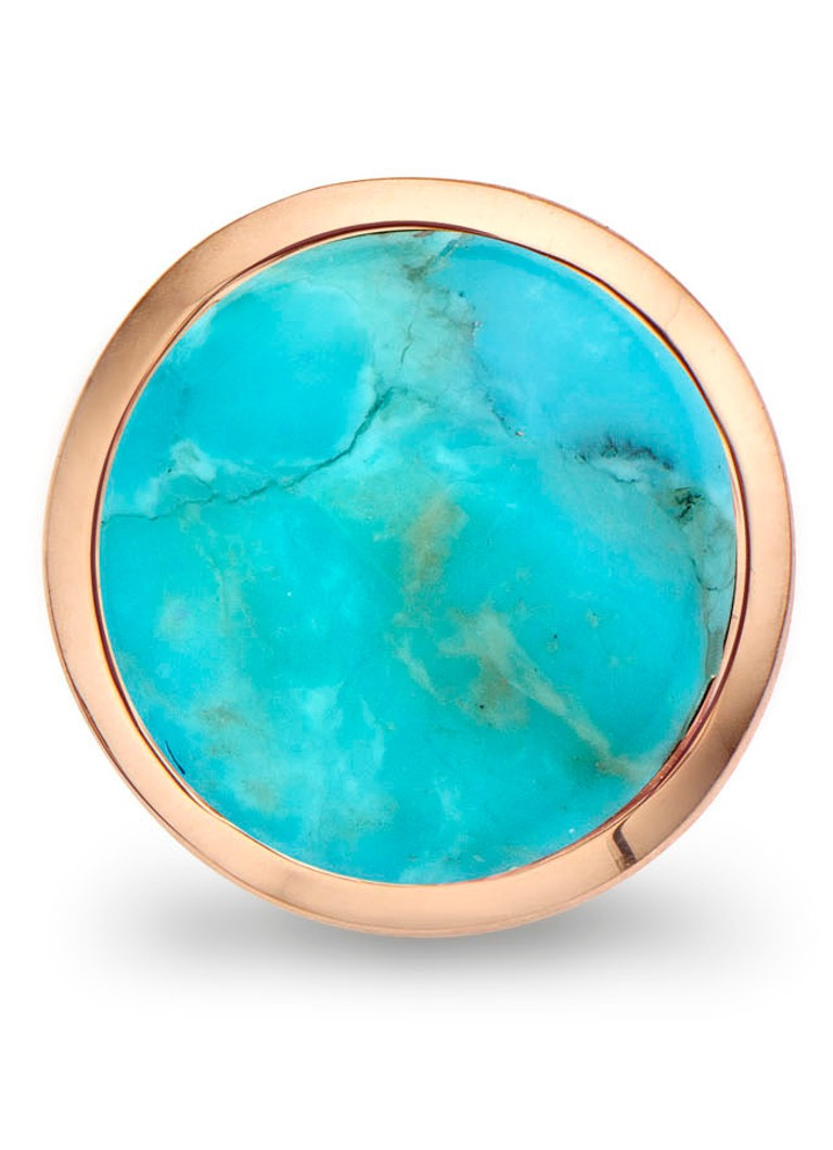 Casa Jewelry Clip Bubbles Turquoise Natural
