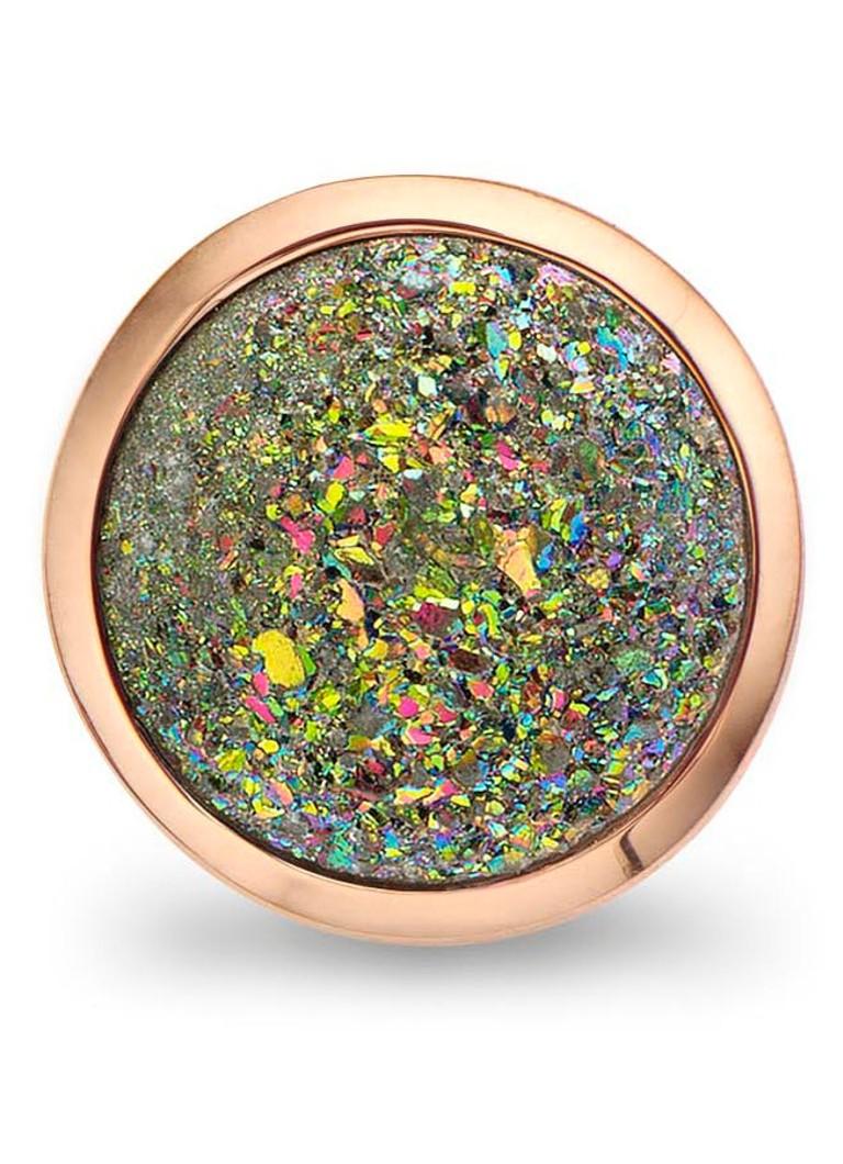 Casa Jewelry Clip Quartz groen roségoud
