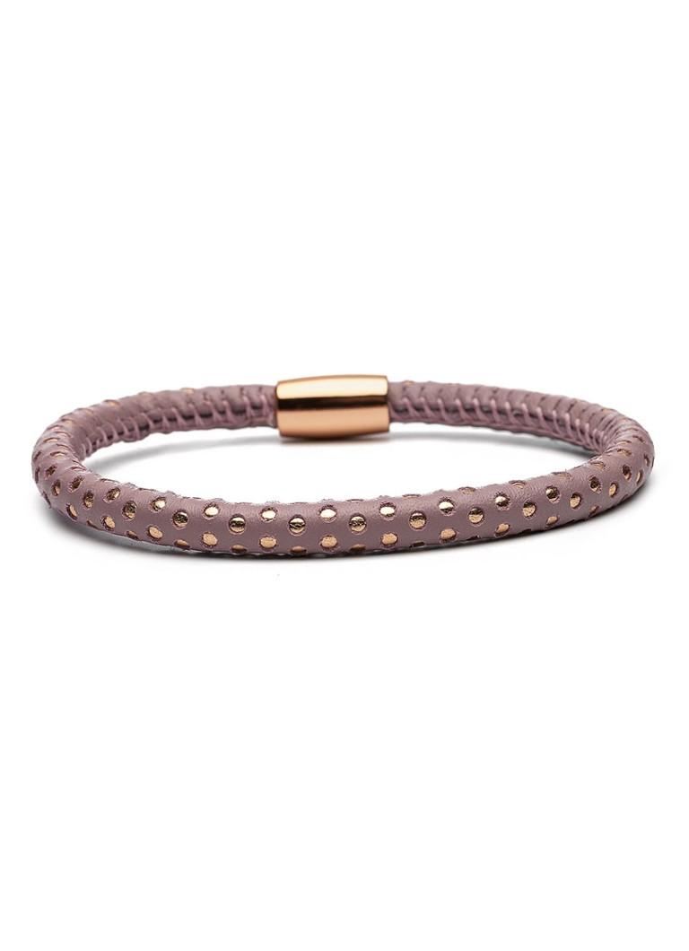 Casa Jewelry Armband leder met magneetslot Bubbles