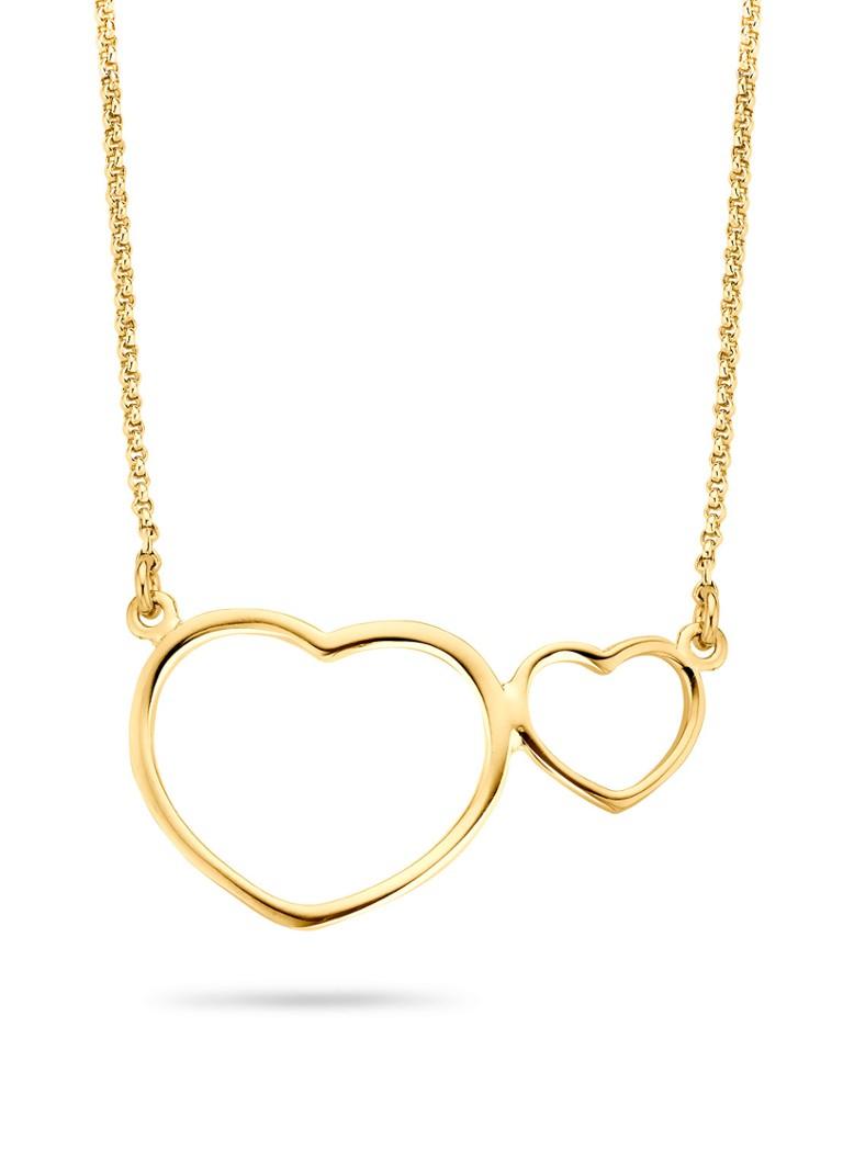 Casa Jewelry Collier met hartjes goudkleurig