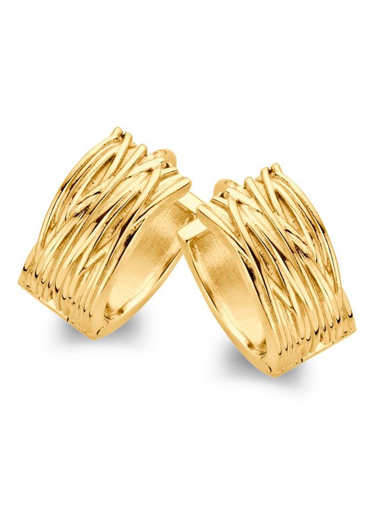 Sieraden Casa Jewelry Creolen Wikkel van zilver goud verguld Goud