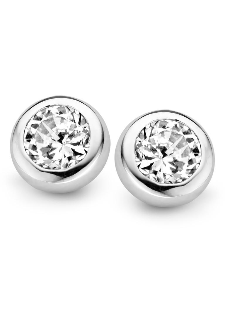 Casa Jewelry Zilveren oorbellen met zirkonia