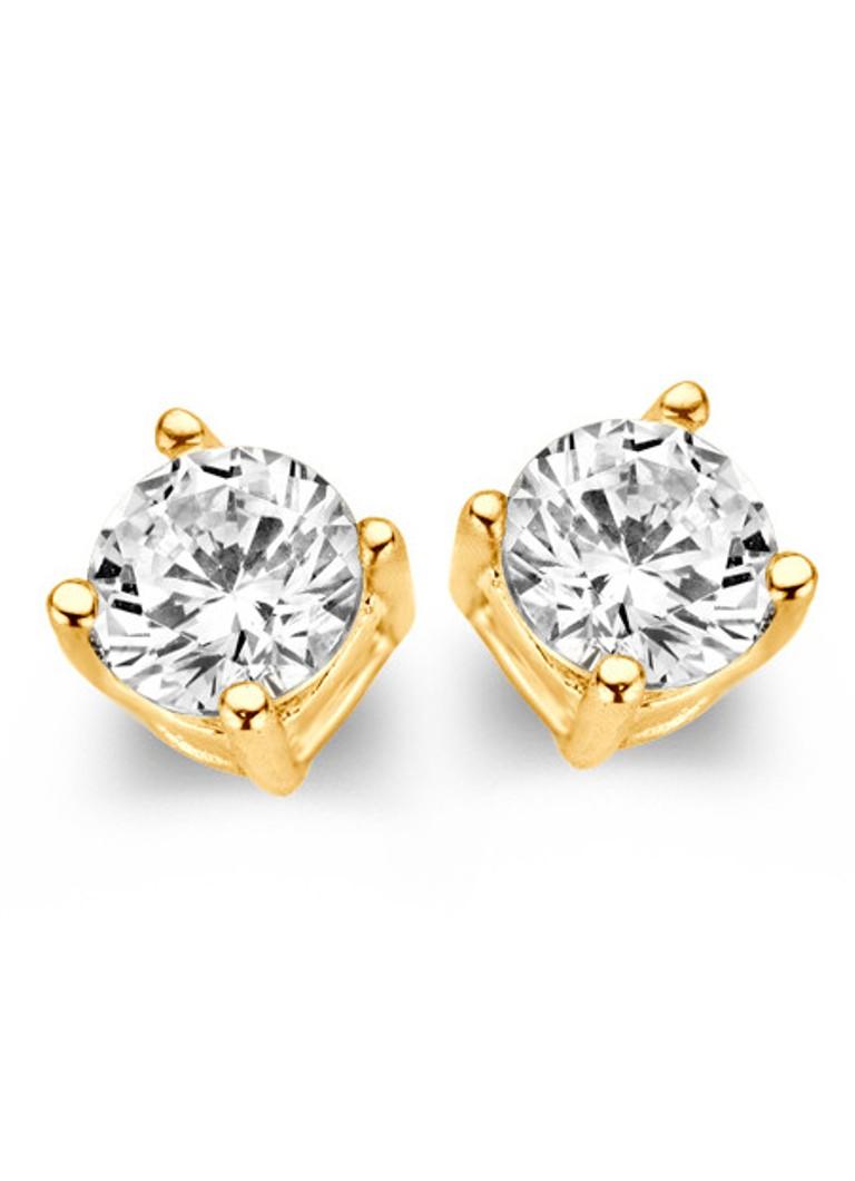 Casa Jewelry Oorstekers Marry goudkleurig