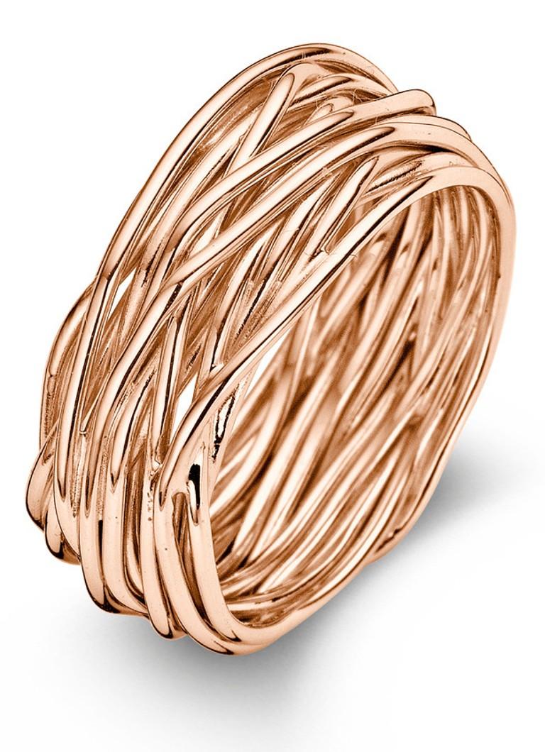 Casa Jewelry Ring Wikkel rosegoud