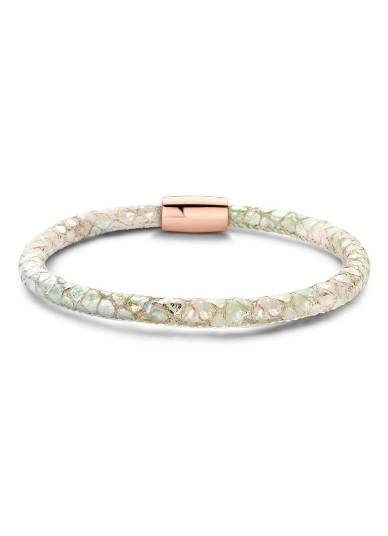Casa Jewelry Armband Mint Pastel van leder slot zilver rosé verguld