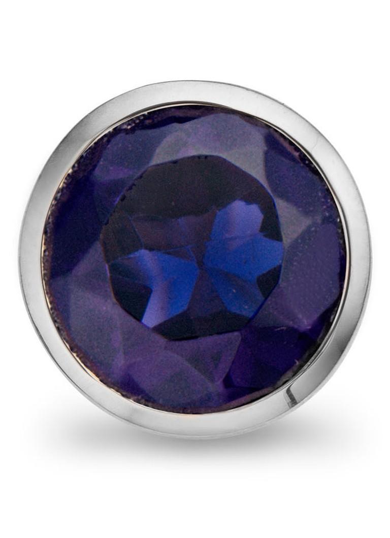 Casa Jewelry Clip Blue Facet met zirkonia
