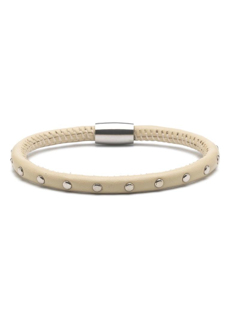 Casa Jewelry Casa Jewelry Armband Beige Studs zilver