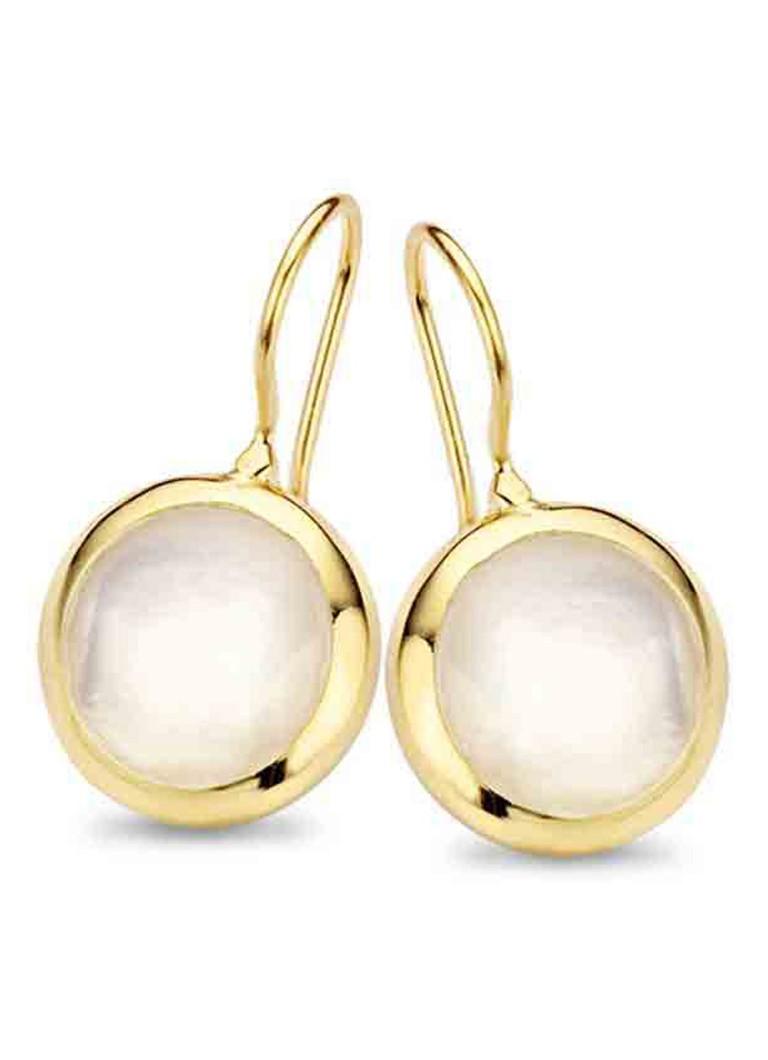 Casa Jewelry Pom oorstekers van zilver goud verguld