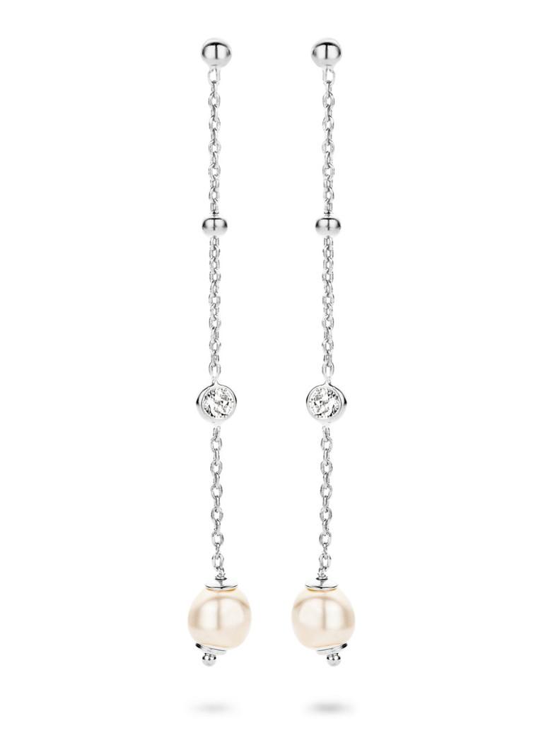 Casa Jewelry Oorhangers Pruts Pearl van zilver