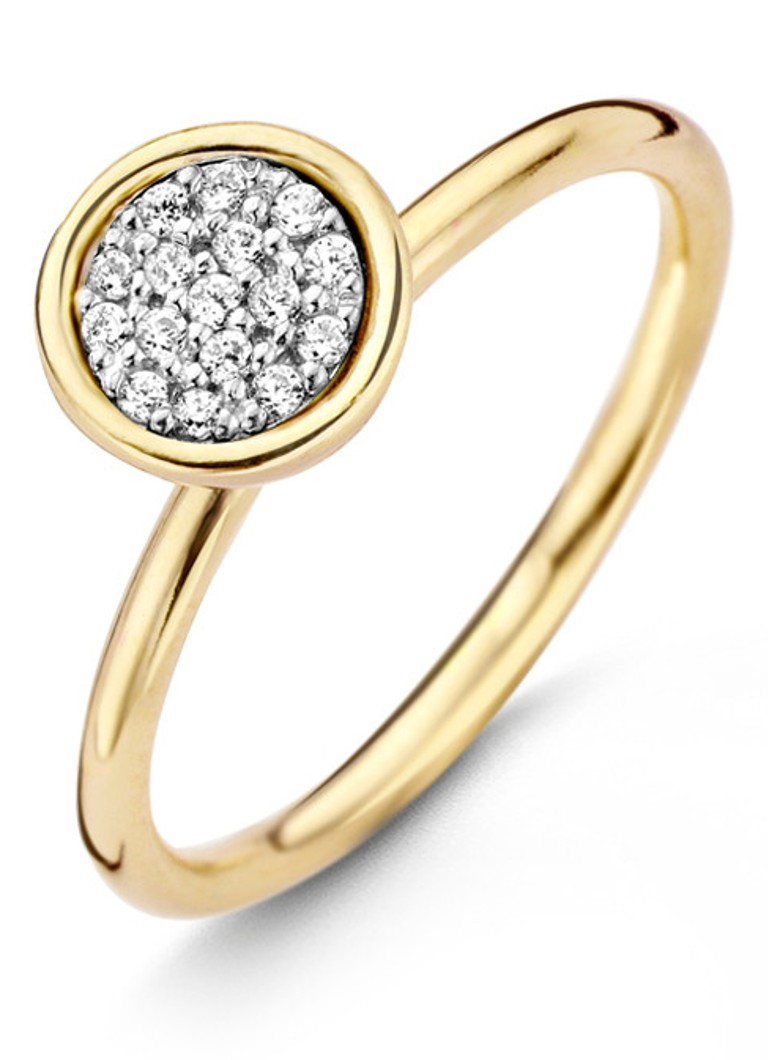 Casa Jewelry Ring Shine S van zilver goud verguld