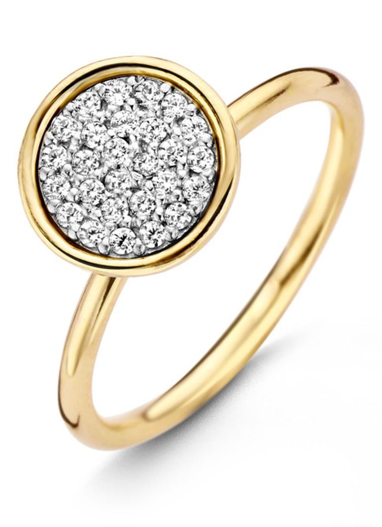 Casa Jewelry Ring Shine L van zilver goud verguld