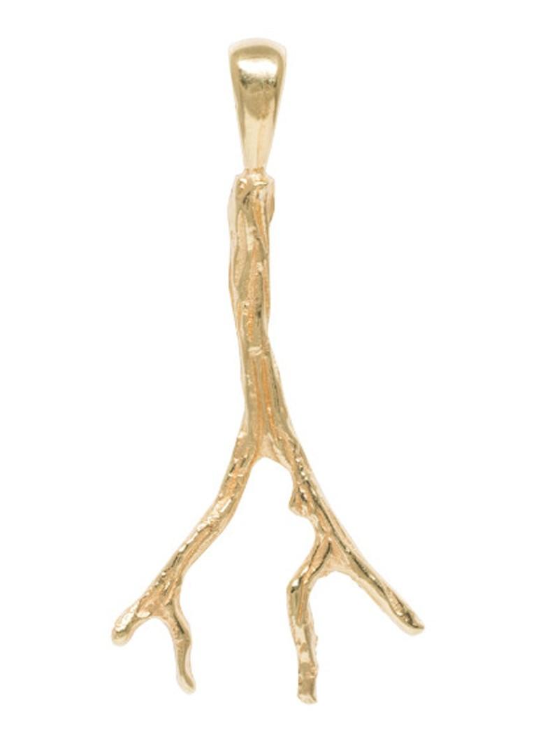 Anna + Nina Branch hanger van zilver met gouden plating