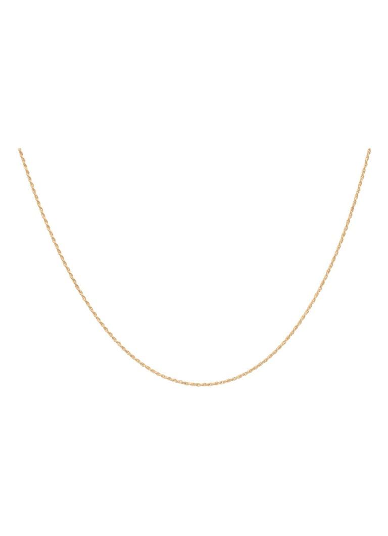 Anna Nina Twisted Plain Short ketting van zilver met gouden plating