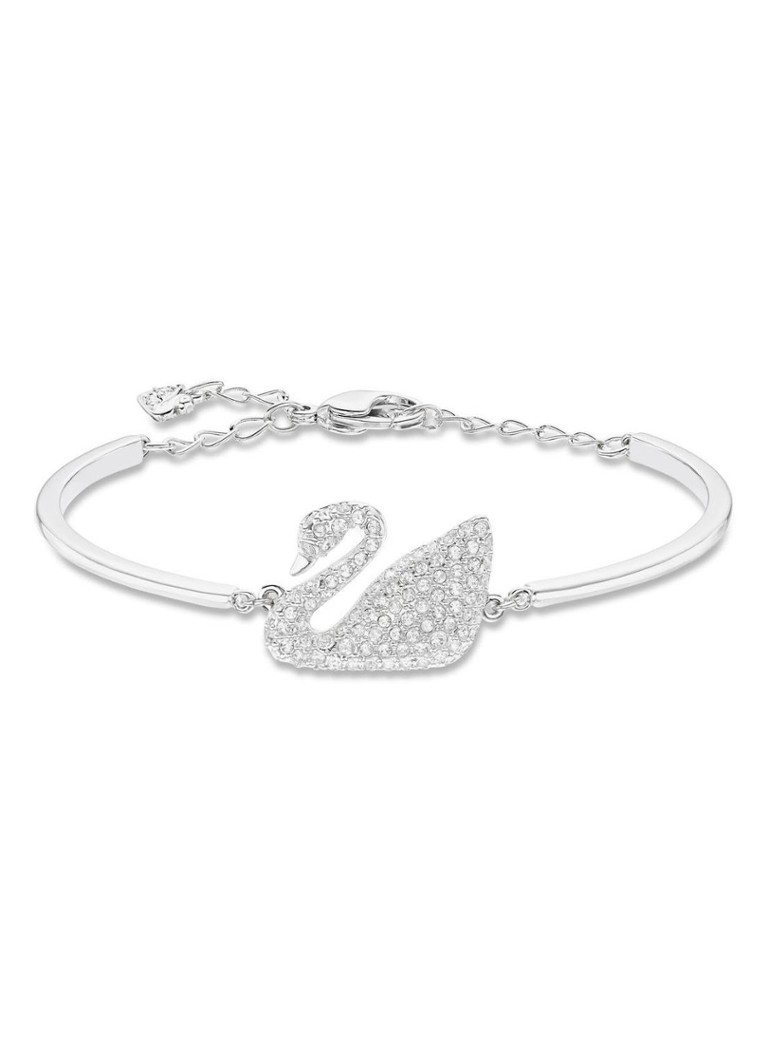 Sieraden Swarovski Swan armband Zilver