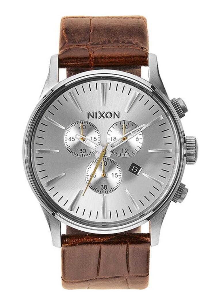 Nixon Horloge The Sentry Chrono Leather A405-1888-00