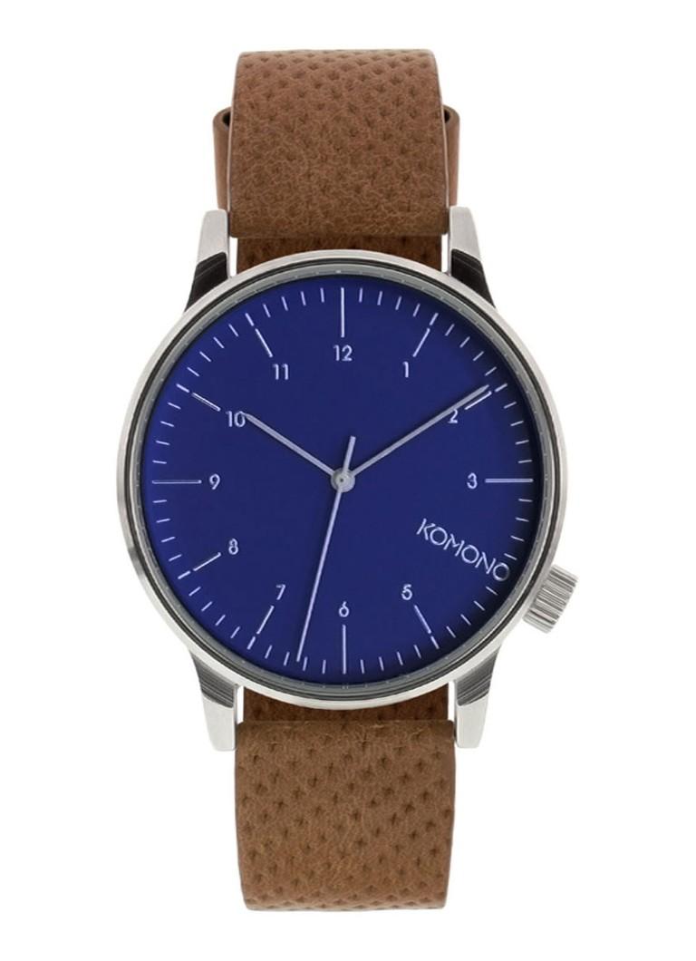 Komono Horloge Winston Blue Cognac KOM-W2000