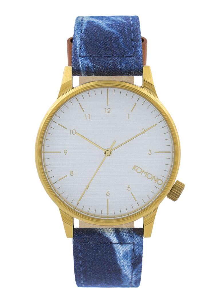 Komono Horloge Winston Heritage Indigo Denim KOM-W2132