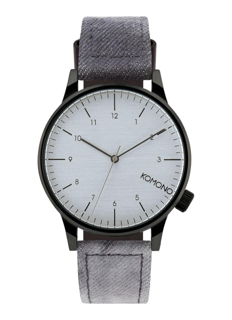 Komono Horloge Winston Heritage Black Denim KOM-W2133