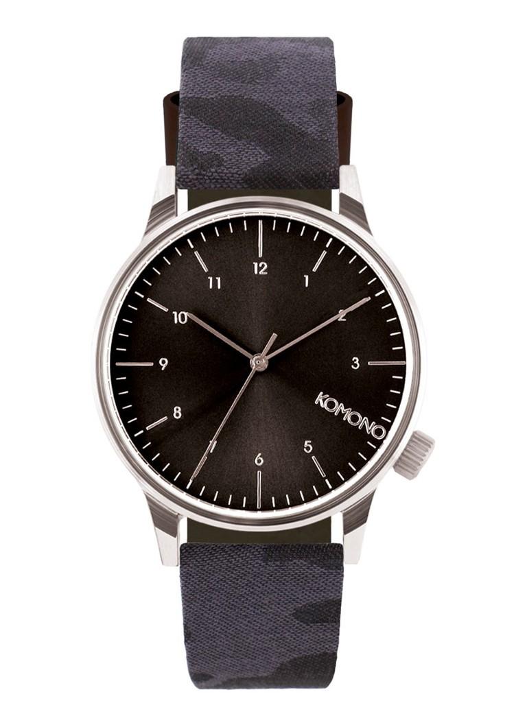 Komono Horloge Winston Print Series Camo Black KOM-W2168