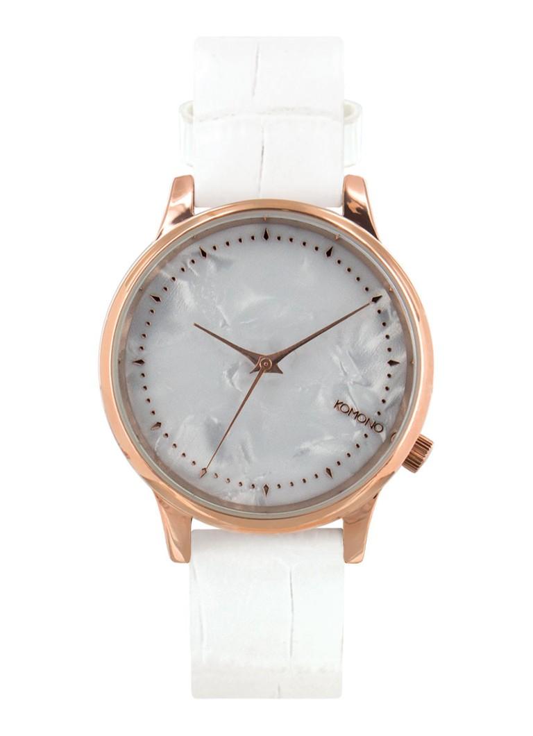 Komono Horloge Estelle Monte Carlo White Croc KOM-W2700