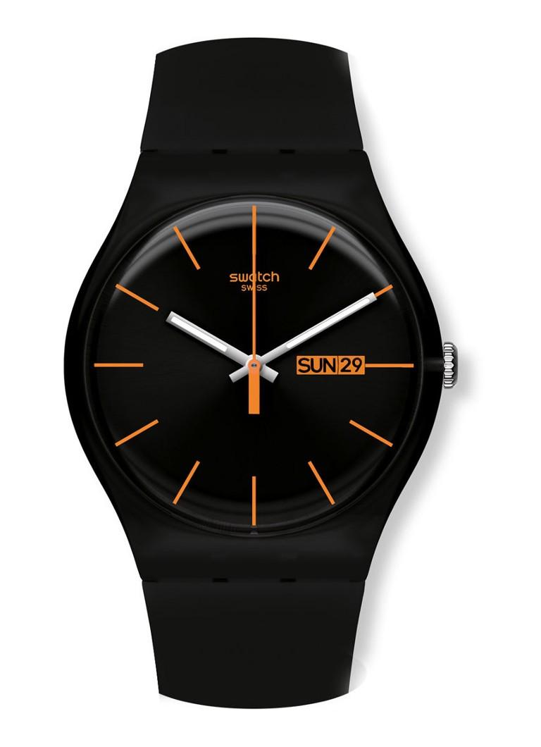 Swatch Horloge Dark Rebel SUOB704