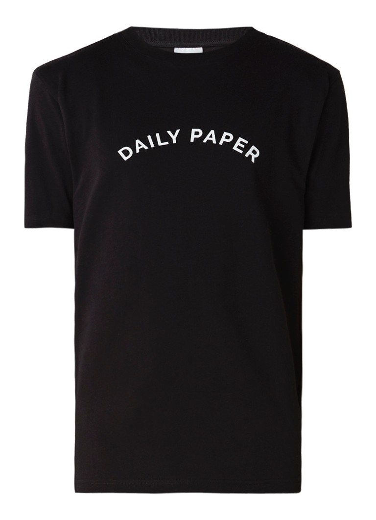 Polo s en T shirts Daily Paper Arc T shirt met logoprint Zwart