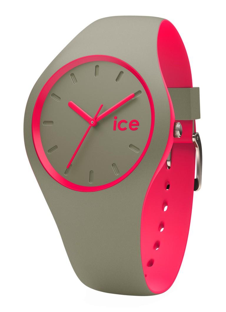 Ice-Watch Horloge Ice Duo Khaki Pink Small IW000360