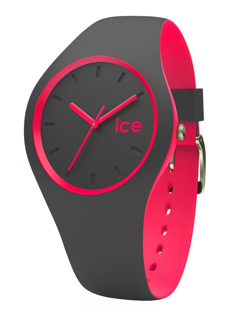 Ice-Watch Horloge Ice Duo Anthracite Pink Unisex IW001501
