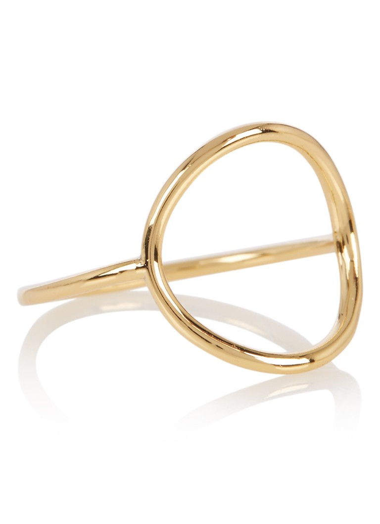 Orelia Simple Open Circle ring