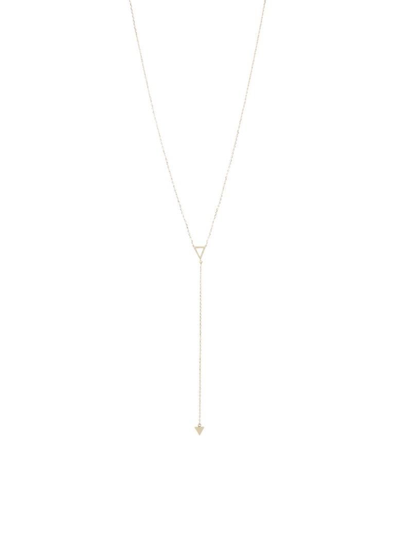 Orelia Triangle Lariat ketting met hanger ORE22148