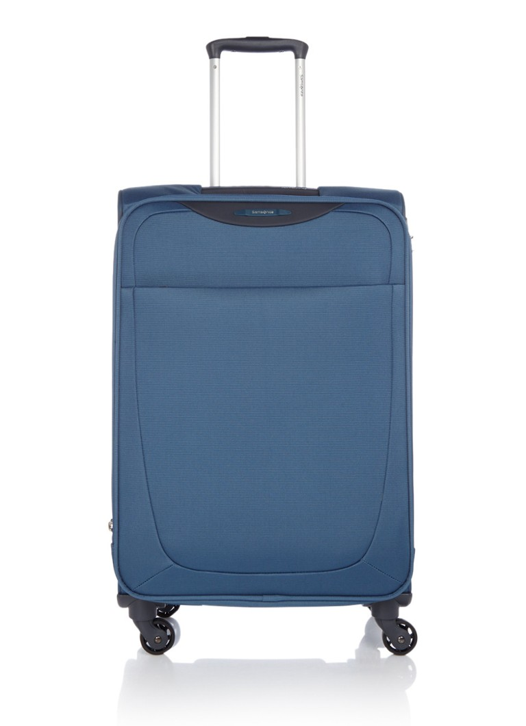 Samsonite Base Hits Spinner 66 Expandable Steel Blue